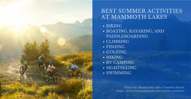 Mammoth Lakes What To Do in Summer