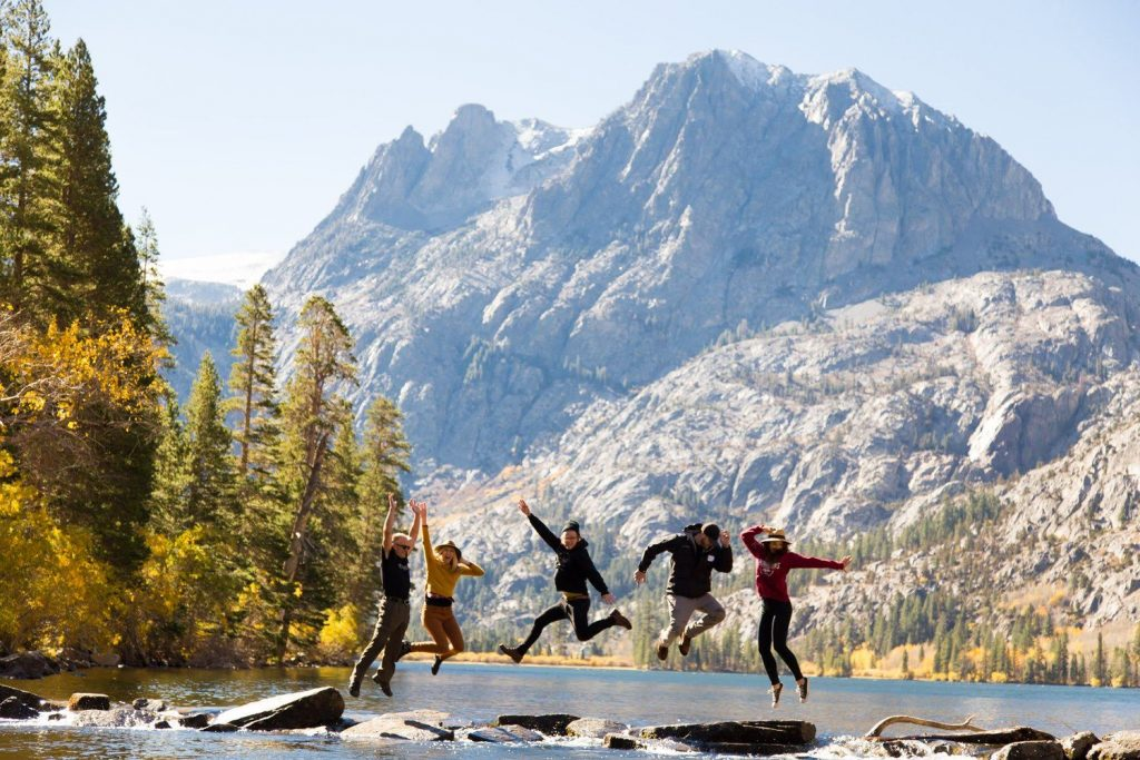Group photo from the Mammoth Lakes Tourism Board